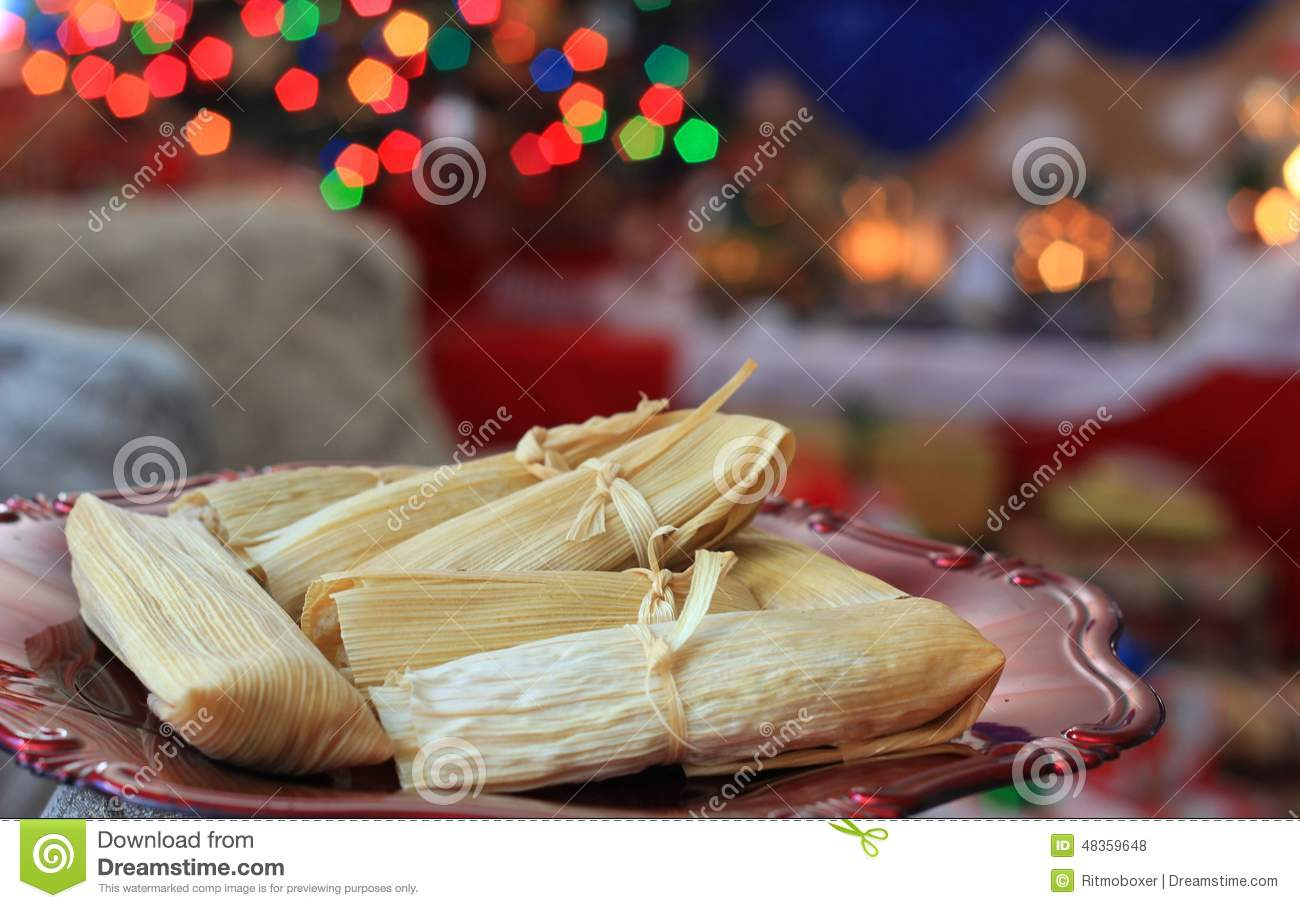 Tamales For Christmas A Typical Dish For The Holiday Season In Mexico