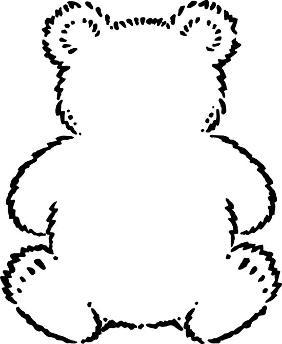 10 Teddy Bear Outline Printable Free Cliparts That You Can Download To