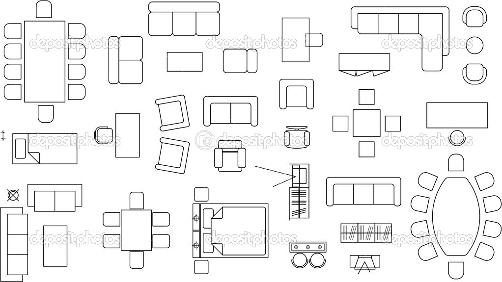 Floor plan symbols best free home design idea for Floor plan symbols
