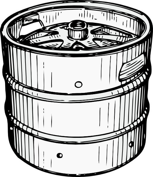 One Line Art Beer : Beer can black and white clipart suggest