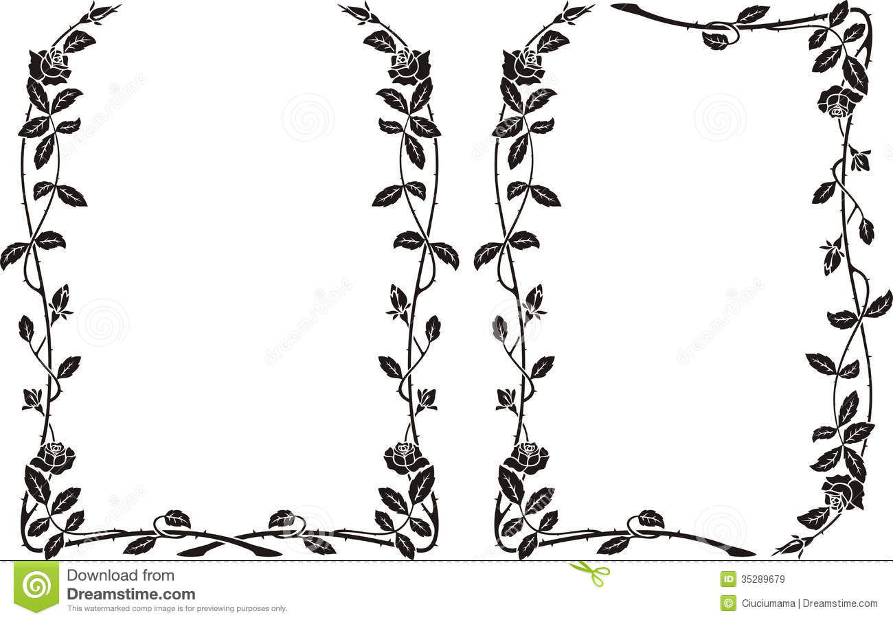 black and white rose frame clipart clipart suggest