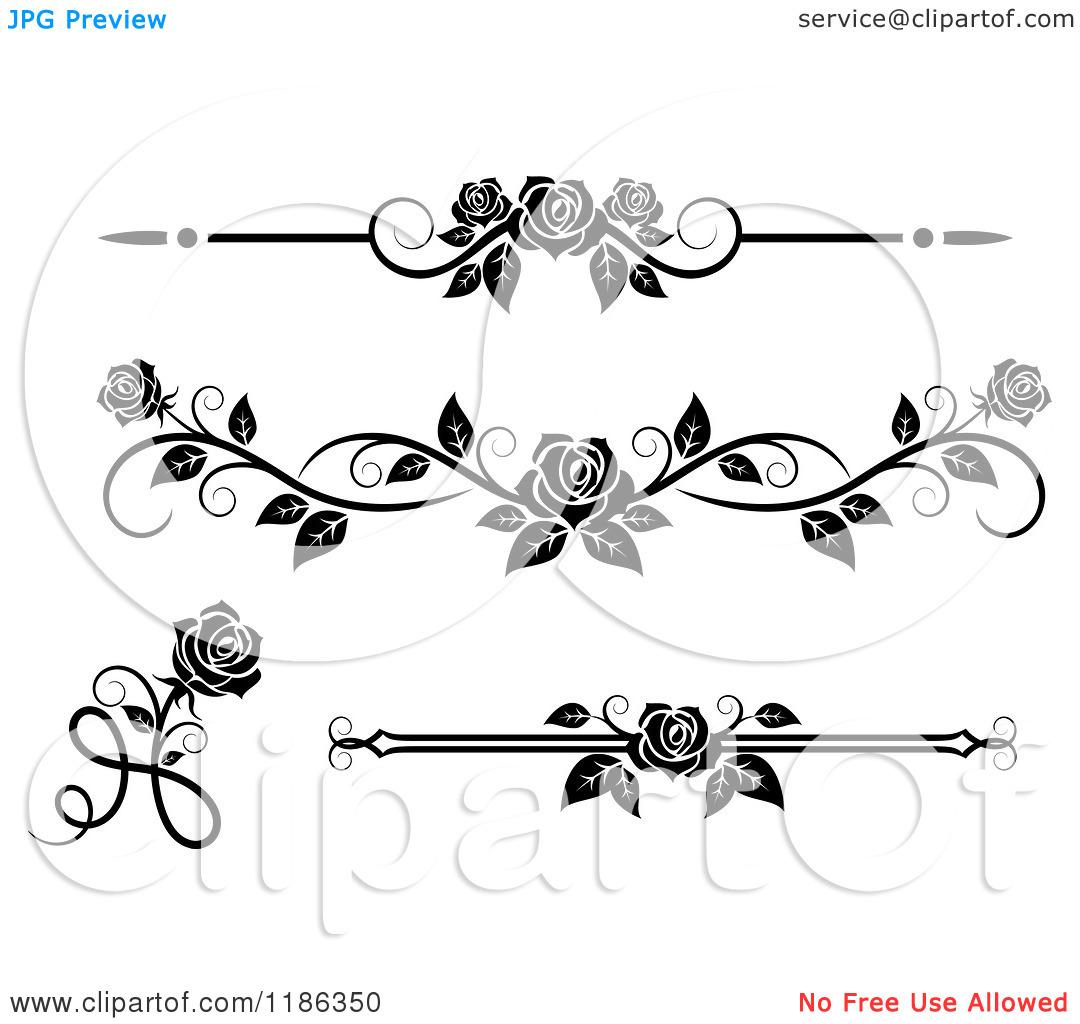 black and white rose frame clipart clipart kid