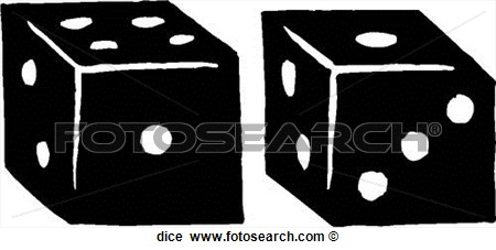 Clipart Of Dice Search Illustration Murals Drawings Clipart