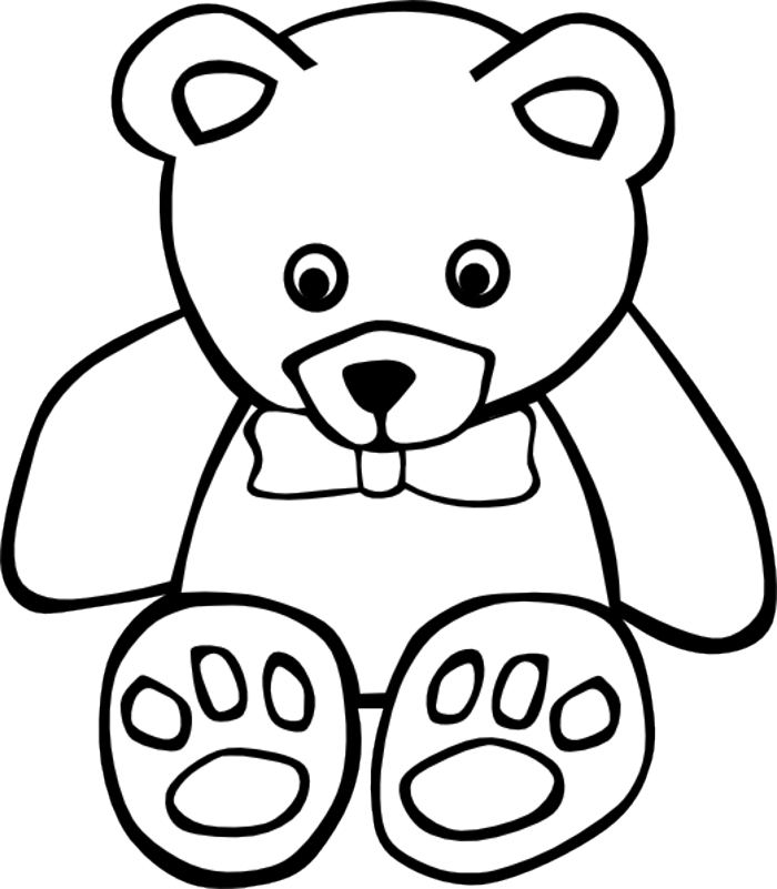 Bear Outline Clipart - Clipart Kid