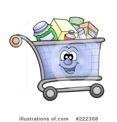 Full Grocery Cart Clipart Grocery Shoppin...