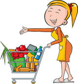 Grocery Cart Clipart Vector Graphics  525 Grocery Cart Eps Clip Art