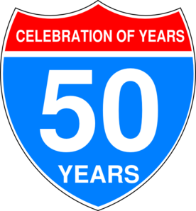 Interstate 50th Anniversary Sign Clip Art At Clker Com   Vector Clip