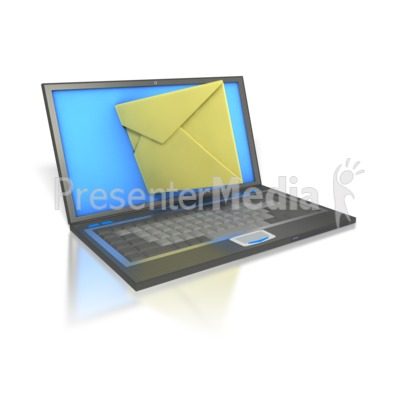 Laptop Internet Mail   Science And Technology   Great Clipart For