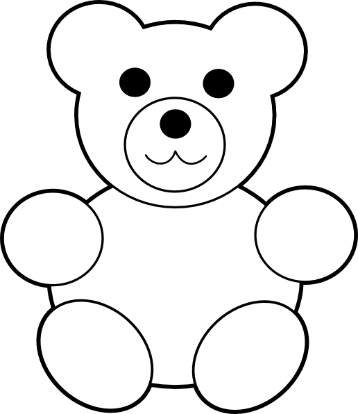 Related Pictures Bear Outline Clker Clipart Html