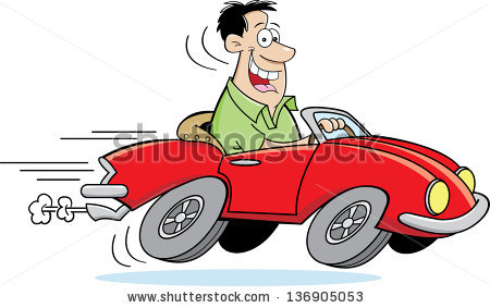 Rental Car Cartoon Clipart