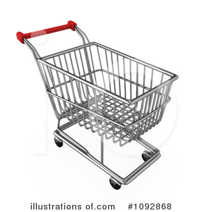 Royalty Free  Rf  Shopping Cart Clipart Illustration  1092868 By Bnp