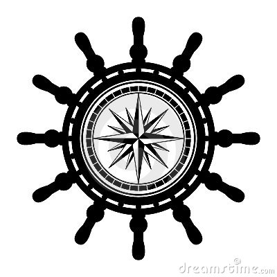 Ship Steering Wheel Abstract Illustration