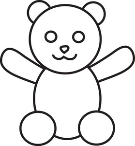 Teddy Bear Outline Clipart   Clipart Panda   Free Clipart Images
