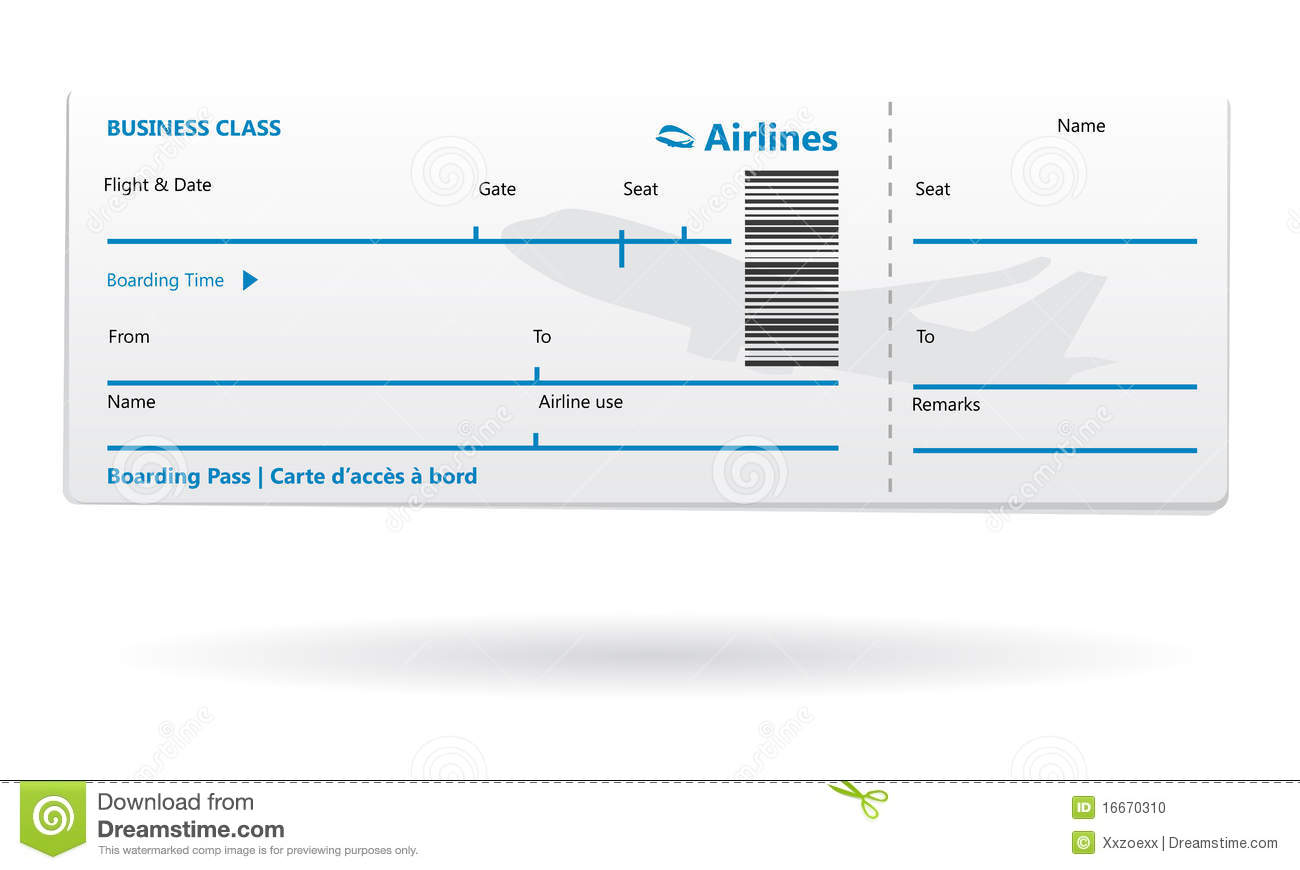 Blank Plane Ticket Clipart Clipart Kid – Plane Ticket Template
