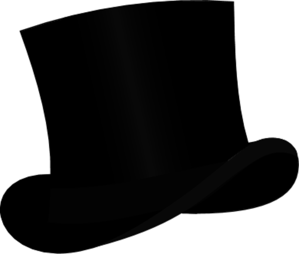 Top Hat Silhouette Clipart - Clipart Suggest