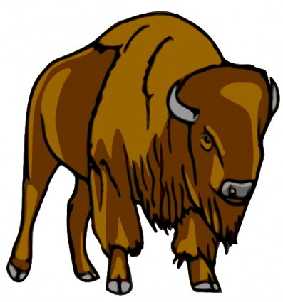 Bison Clip Art Free Vector In Open Office Drawing Svg    Svg   Format