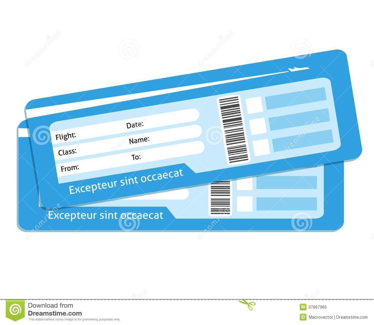 Blank Plane Ticket Clipart Clipart Suggest