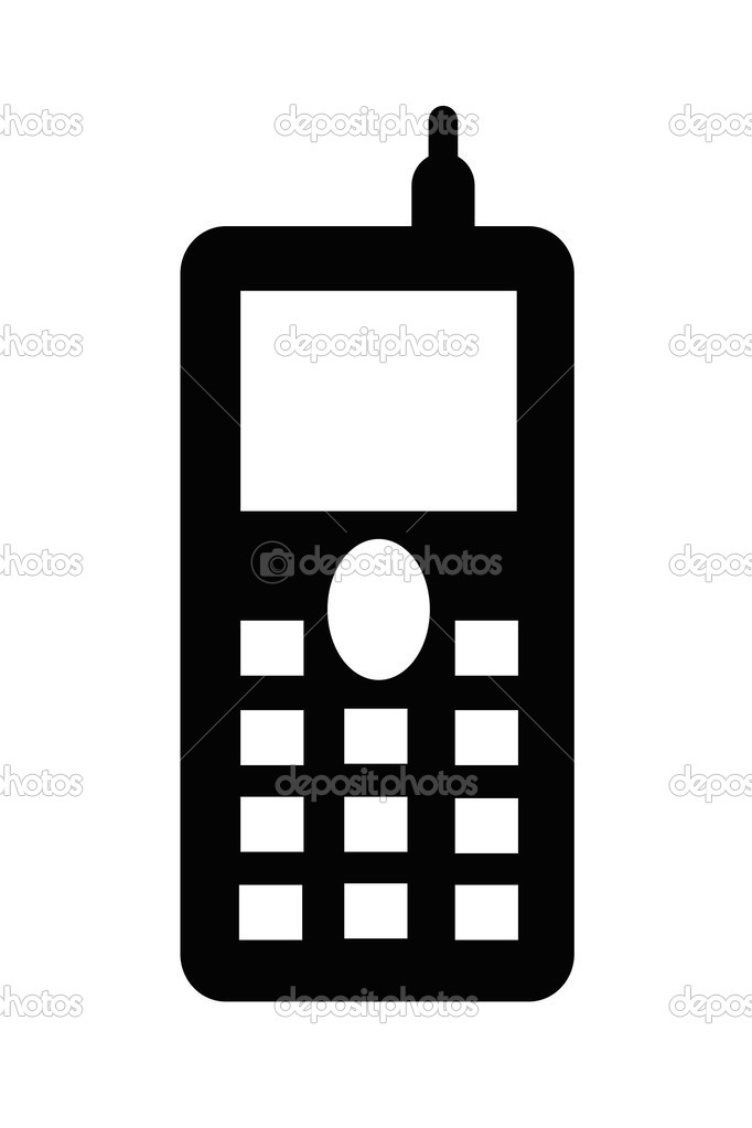 Cell Phone Clip Art Black And White