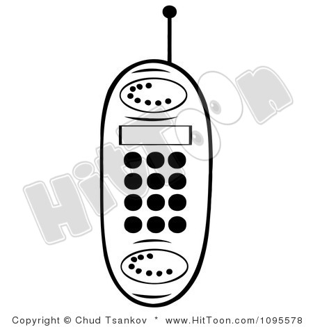 Cell Phone Clipart Black And White 1095578 Clipart Black And White