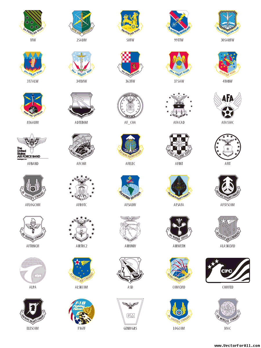 Clip Art Air Force Offical Logo Clipart