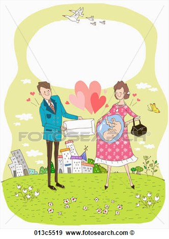 Clip Art Of Illustration Of Childbirth Grant 013c5519   Search Clipart