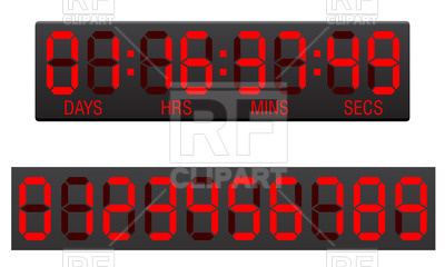 Digital Countdown Timer 27892 Download Royalty Free Vector Clipart