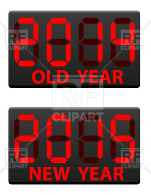Electronic Scoreboards With Old  2014  And The New  2015  Year Vector