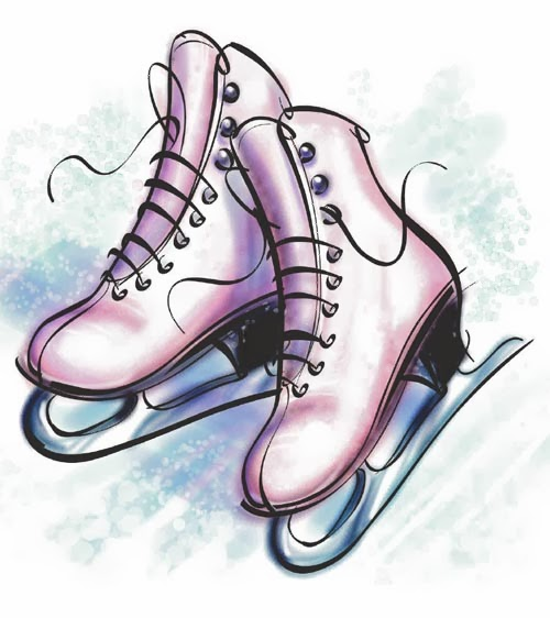 Clip Art Ice Skate Clipart ice hockey skates clipart kid family skating clip art don t grow on trees