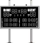 Home And Guest Scoreboard   Royalty Free Clip Art