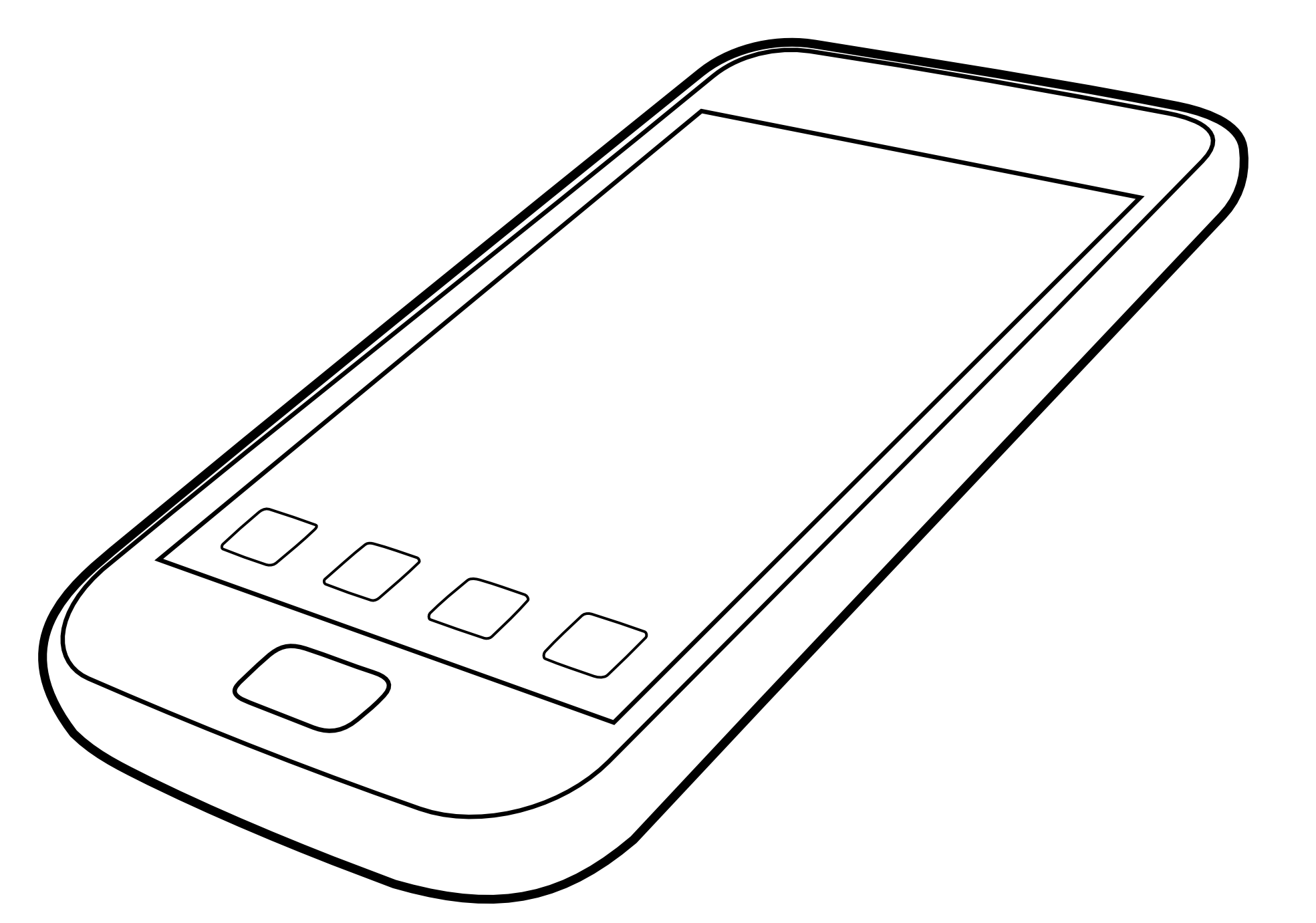 Iphone Black White Line Art Scalable Vector Graphics Svg Clip Art