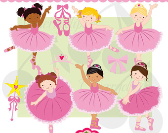 Little Ballerina Digital Clipart Se T For  Personal And Commercial Use