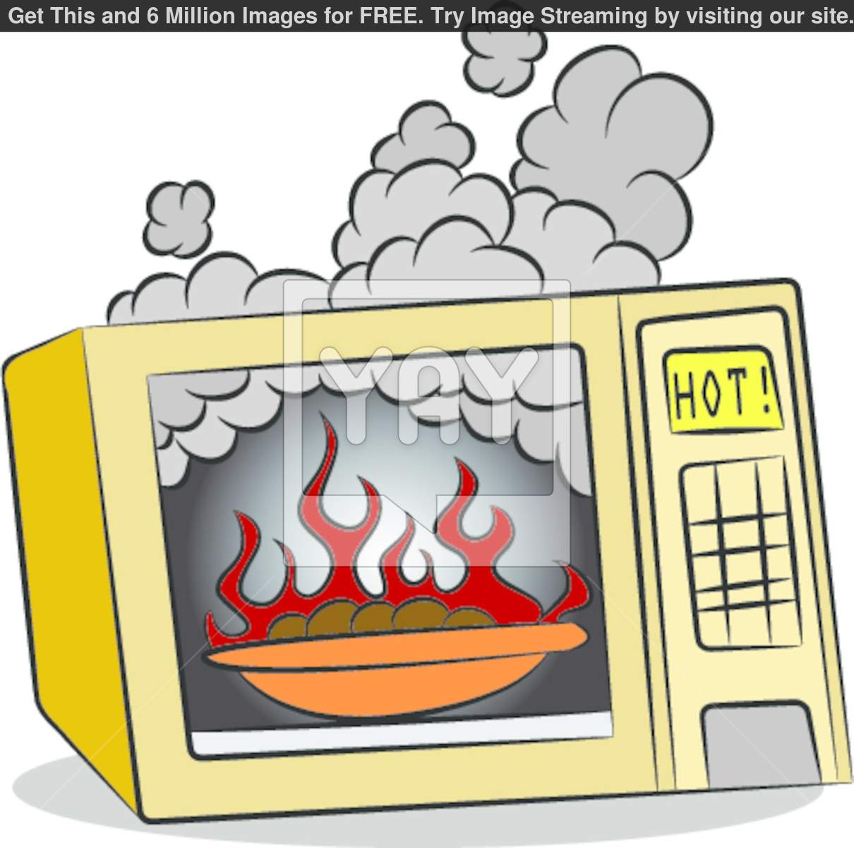 Microwave Clip Art Food Burning In Microwave Oven