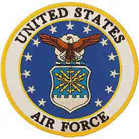 Military Pride   Air Force Patches   Regular Size Air Force Patches