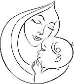 Mother And Baby   Royalty Free Clip Art