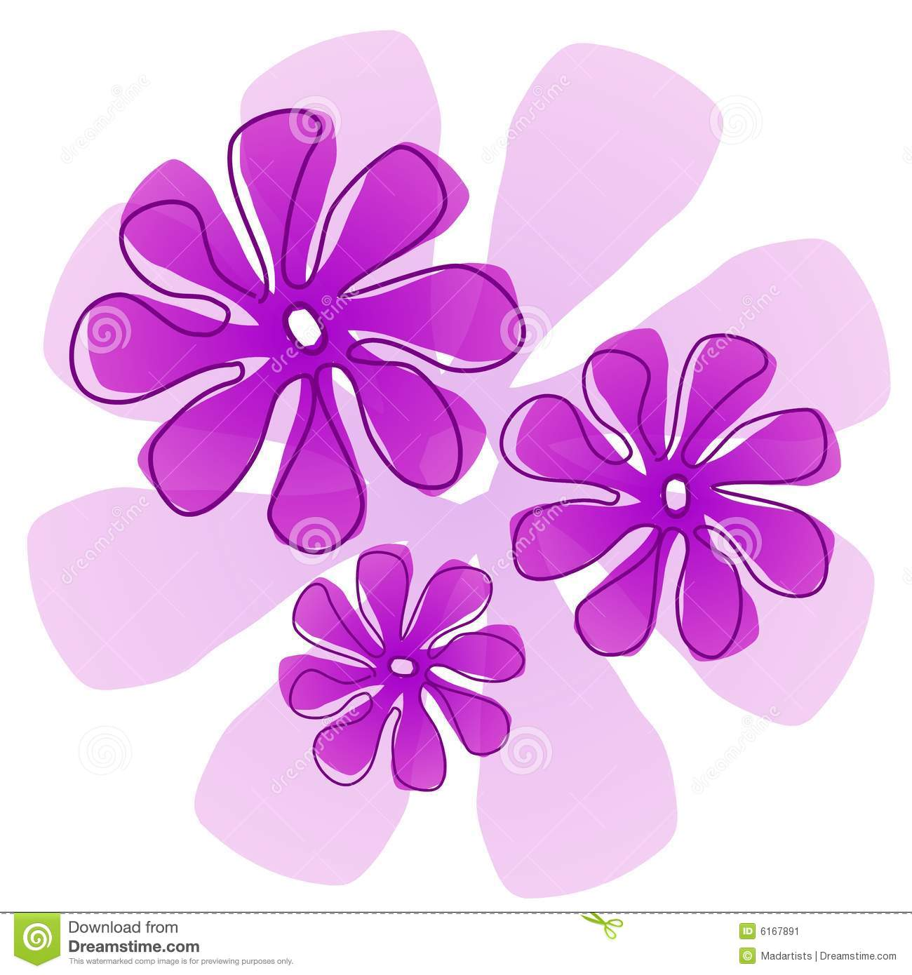 Pink And Purple Flower Clipart - Clipart Suggest