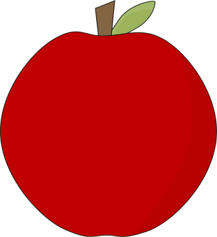 Red Apple Clip Art Image   Clip Art Image Of A Red Apple