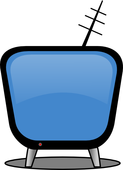 Retro Tv Blue Clip Art At Clker Com   Vector Clip Art Online Royalty