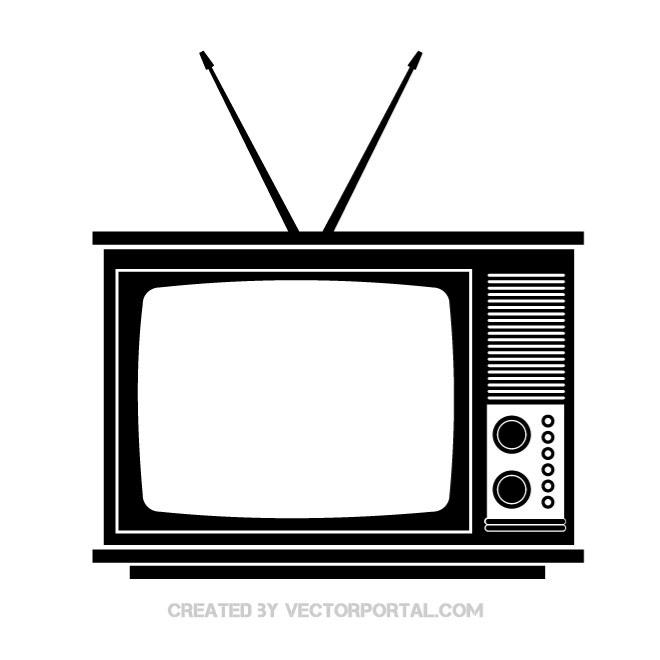 Retro Tv Clip Art Vectorpor Jpg