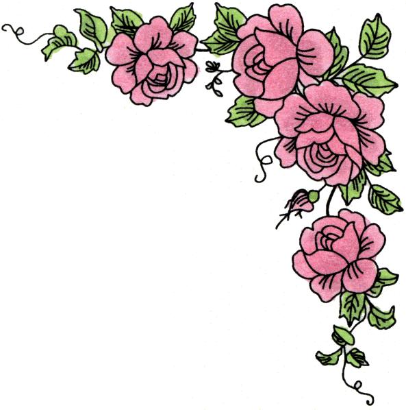 Roses Corner Border Clipart - Clipart Kid