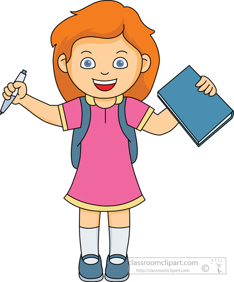Girl At School Clipart - Clipart Suggest