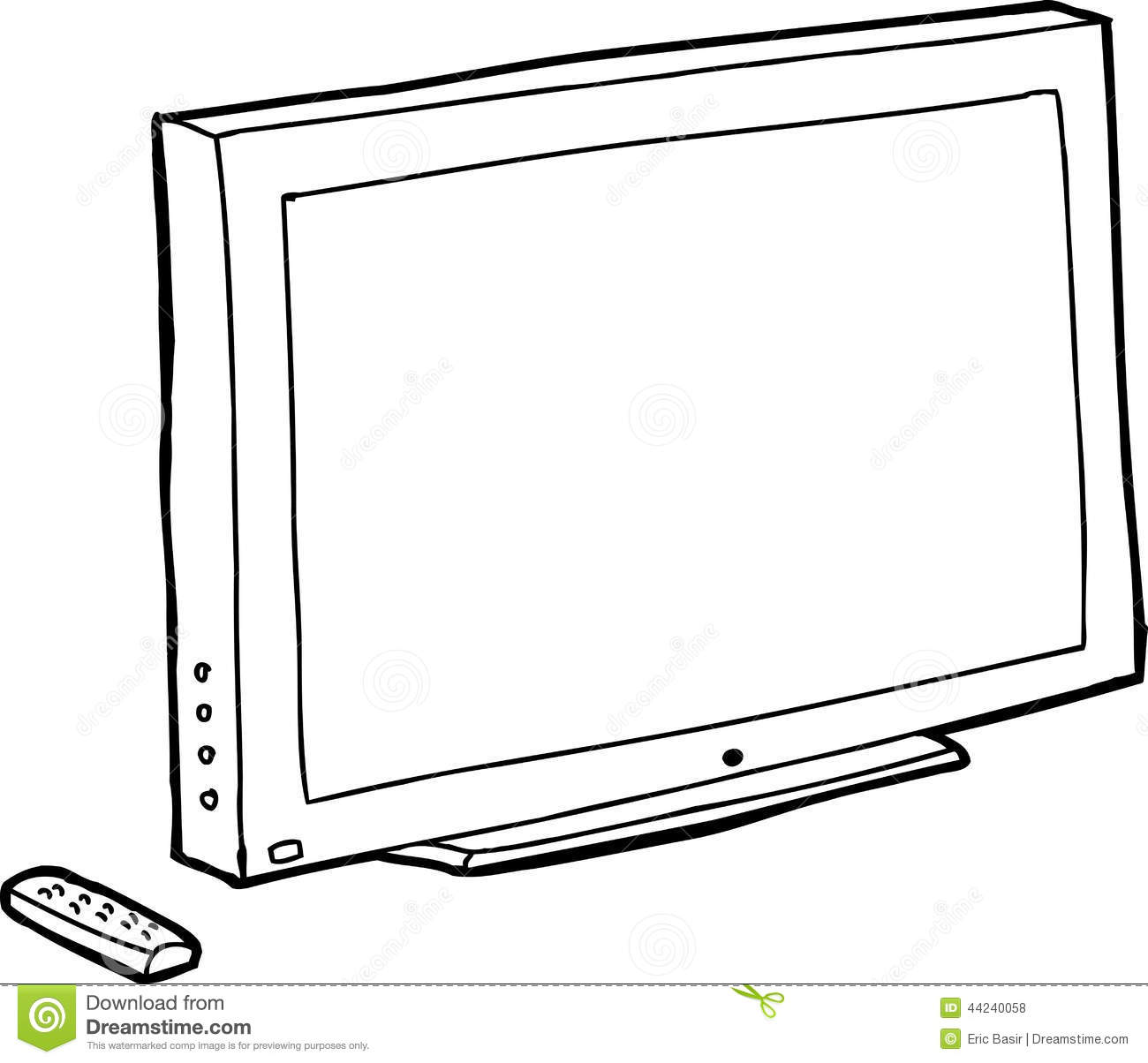 Television Outline Clipart - Clipart Suggest