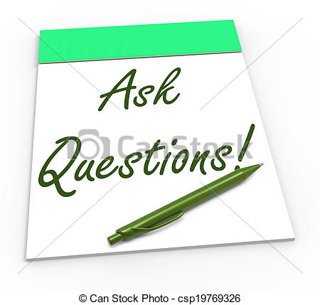 Stock Photo Of Ask Questions Notebook Meaning Solving Requests Helping
