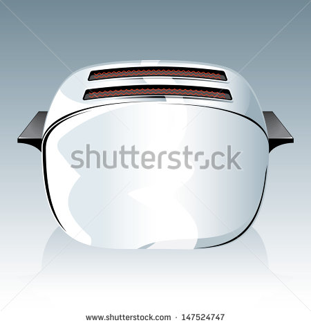 Toaster Toaster Easy To Edit Vector File Of A Simple Electric Toaster