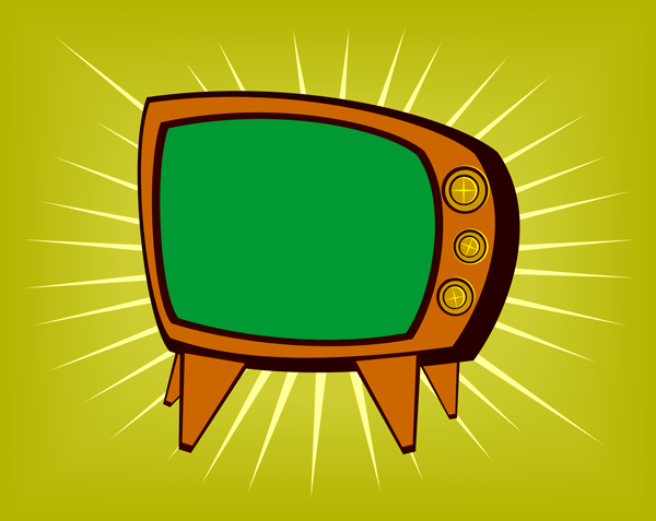 Tv Set Clipart Retro Tv Set Clip Art