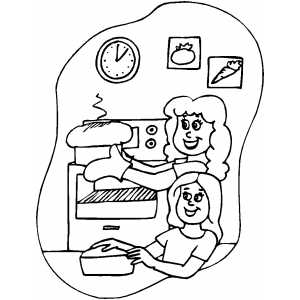Baking bread camping clipart clipart suggest for Baking coloring pages
