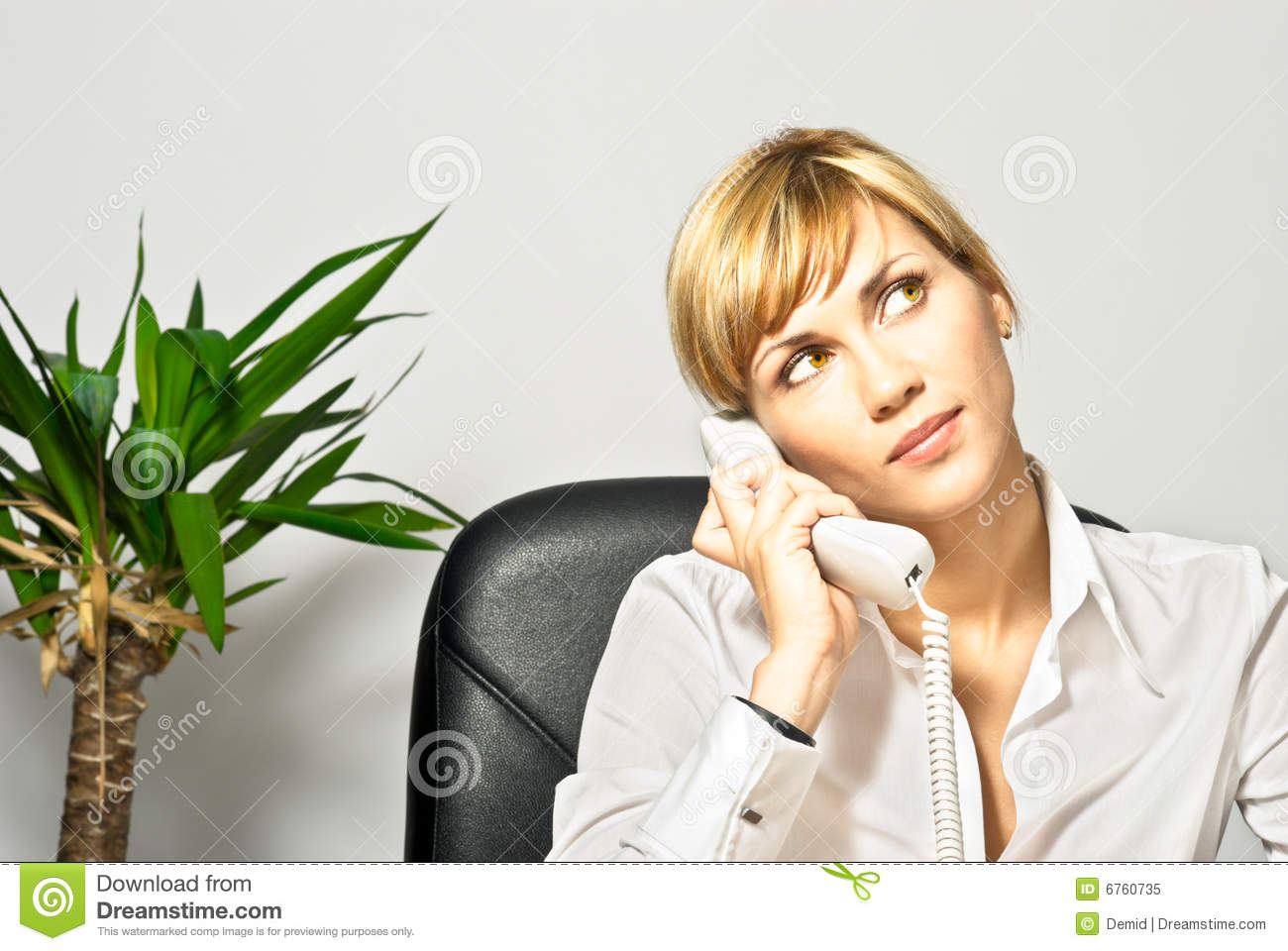Beautiful Business Lady On Phone Royalty Free Stock Photo   Image