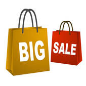 Big Sale Shopping Bags   Clipart Graphic