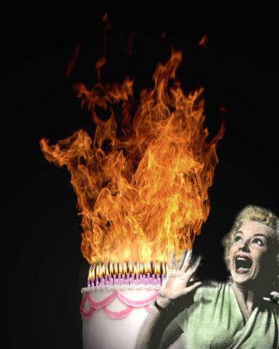 Birthday Cake On Fire Birthday Cake Small2 Jpg