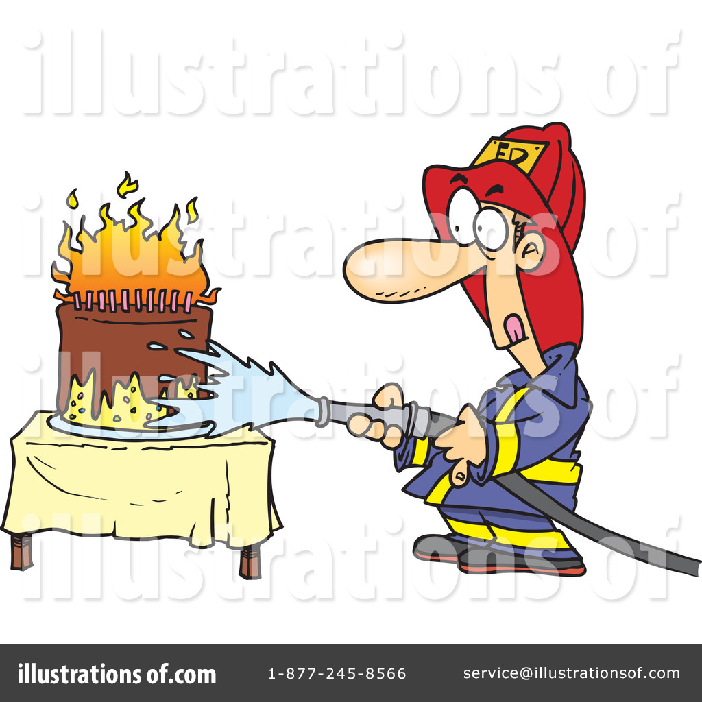 Birthday Cake On Fire Clipart - Clipart Kid