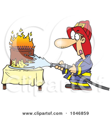 Image Firetruck Putting Out A Birthday Cake